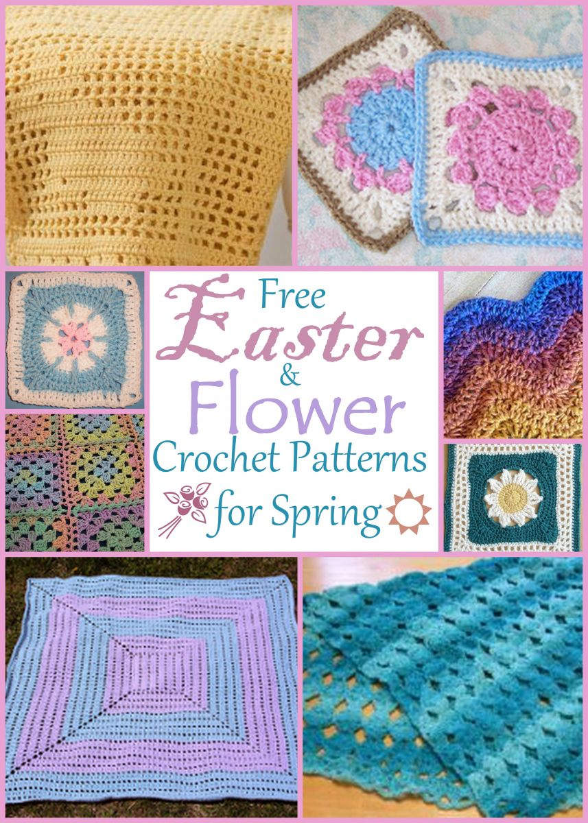 13 Free Easter and Flower Crochet Patterns for Spring ...