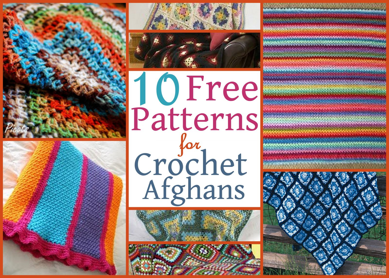 10 Free Patterns for Crochet Afghans | AllFreeCrochetAfghanPatterns.com