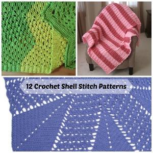 12 Crochet Shell Stitch Patterns