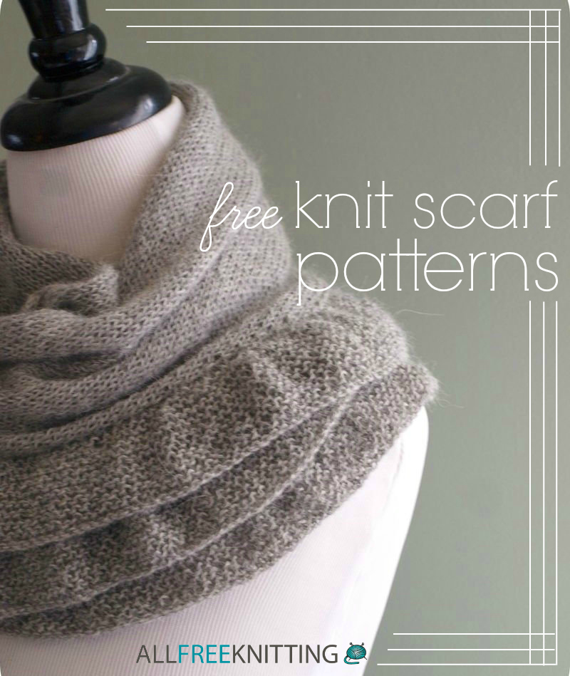 24 Free Knit Scarf Patterns