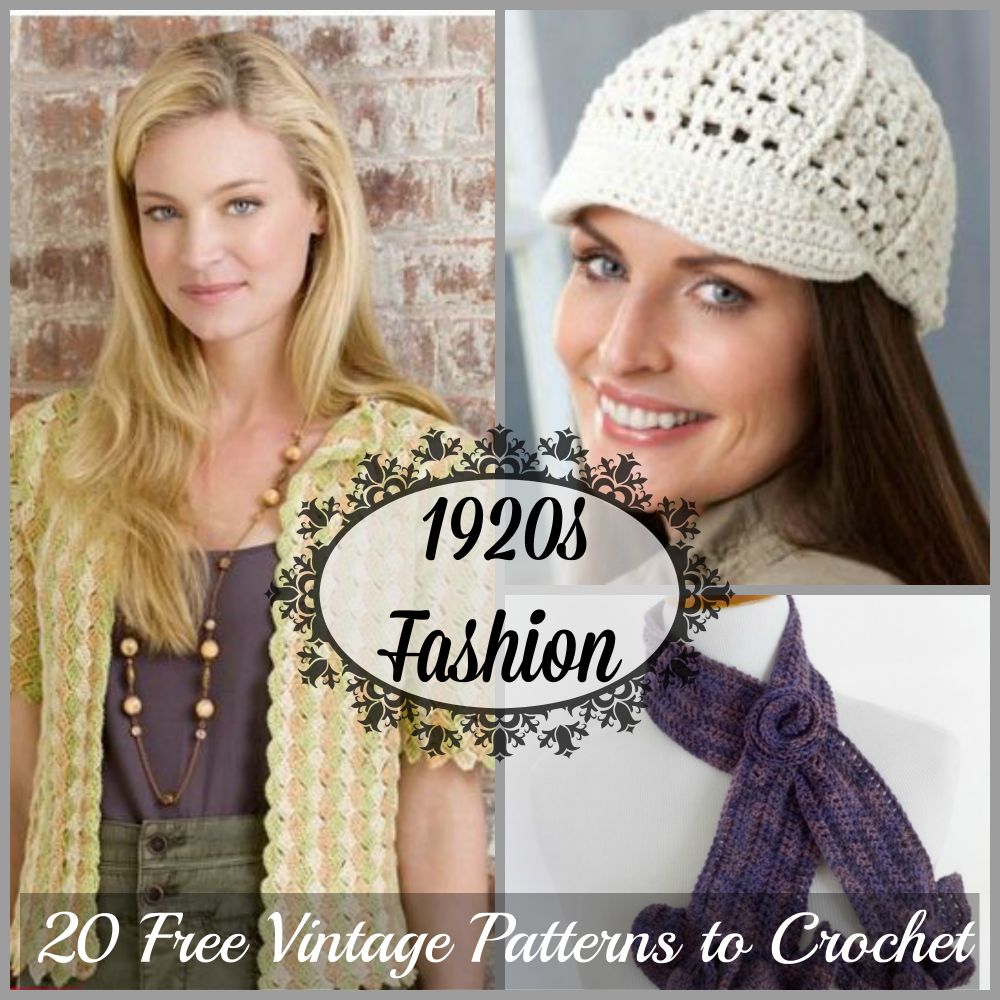 1920s Fashion: 20 Free Vintage Patterns to Crochet