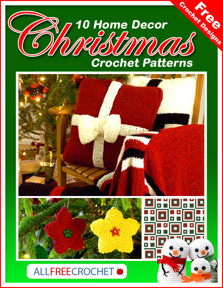 free crochet designs 10 home decor christmas crochet patterns - Home Decor Photos Free