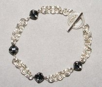 2 in 2 Chain Maille and Bead Bracelet Part 2 AllFreeJewelryMakingcom