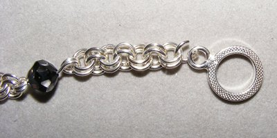 2 in 2 Chain Maille and Bead Bracelet