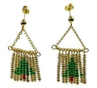 Make Ornaments For Your Ears! 50 DIY Christmas Earrings  - Make Christmas Tree Earrings