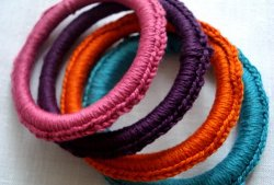 Colorful Crocheted Bangles