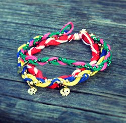 Colorful Braided Friendship Bracelets