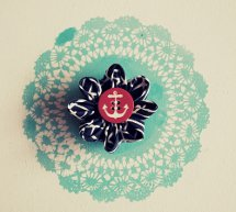 Easty Fabric Flower Brooch