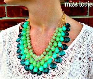 Green Goddess Bead Necklace