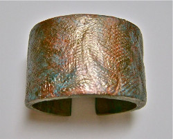 Metallic Clay Cuff Bracelet