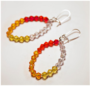 Ombre Crystal Earrings