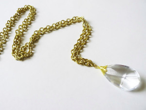 Vintage Chandelier Crystal Necklace