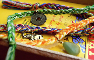"Revamped ""Tie-Dye"" Friendship Bracelets"