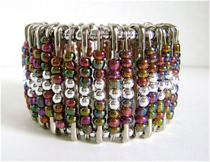 Three-Step Beaded Cuff Bracelet