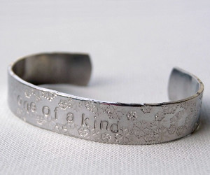 Snowflake Stamped Cuff