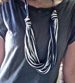 Stringy Striped Tee Necklace