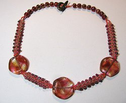 Tiger Lily Beaded Necklace