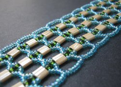 Tila Bead Openwork Right Angle Weave