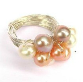 Wire and Pearl Ring