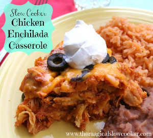 5-Ingredient Chicken Enchilada Casserole