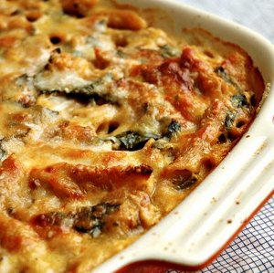 Baked Penne with Squash and Meatballs