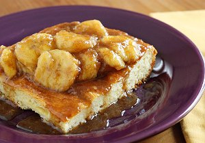 Bananas Fosters Overnight French Toast