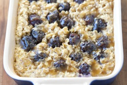 Blackberry Baked Oatmeal