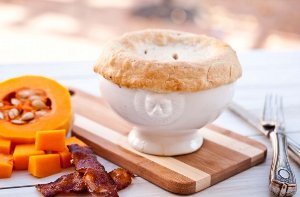 Butternut Squash and Bacon Pot Pie
