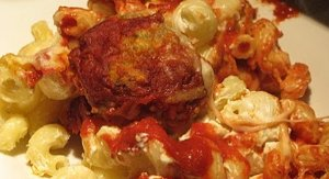 Chicken Meatball Pasta Bake