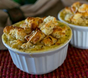 Chicken Pot Pie Crumbles