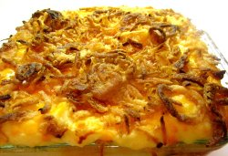 Crunchy Onion and Cheddar Potato Bake