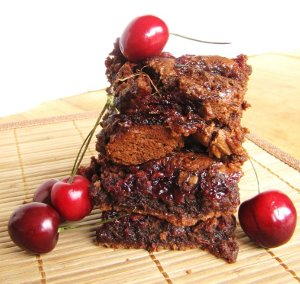 Grown-Up Cherry Brownies