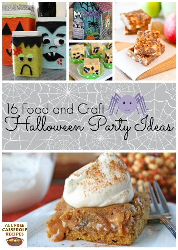 16 Food and Craft Halloween Party Ideas