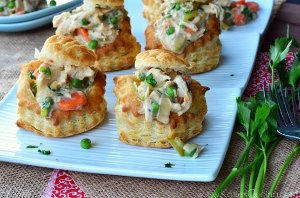 Mini Puff Pastry Chicken Pot Pies