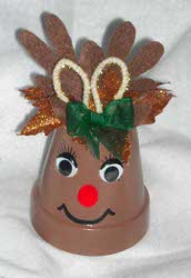 Reindeer Clay Pot Ornament Allfreechristmascrafts Com