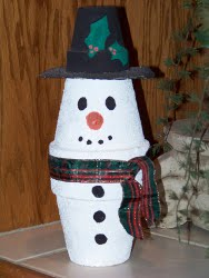 Kids 39 clay pot snowman for Christmas craft ideas for 6 year olds