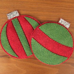 Felt Ornament Coasters