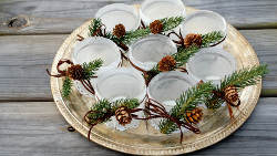 Frosted Votive Centerpiece