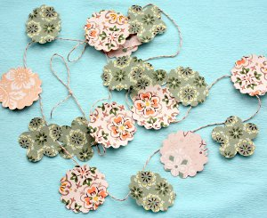 Punched Paper DIY Garland