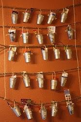 Pottery Barn Inspired Branch Advent Calendar