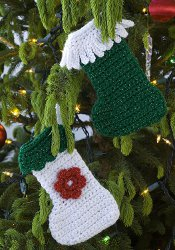 Mini Crochet Stocking Ornaments Allfreechristmascrafts Com
