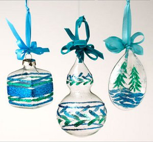 Shimmering DIY Ornaments