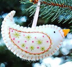 christmas ornament ideas birdie ornament - Handmade Christmas Ornament Ideas