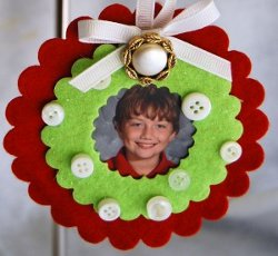 Button Photo Ornaments