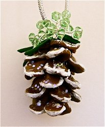 Precious Beads Clay Pinecone Ornament