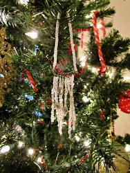 Beaded Icicle Ornament