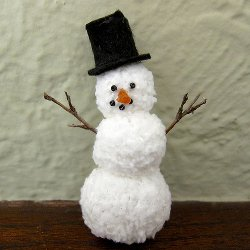 Mini Knitted Snowman