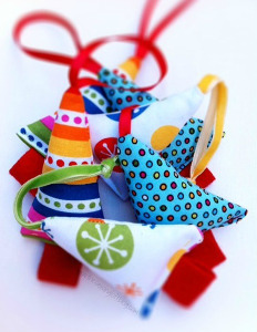 Mini Fabric Tree Christmas Ornaments