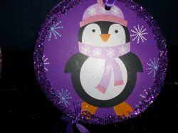 Purple Penguin Ornament