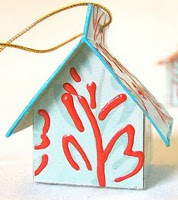 Tissue Box House Ornament